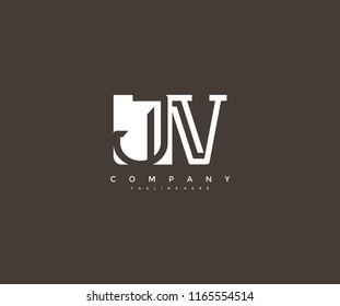 Vector Letter JV Combine Linked Modern Monogram Logo