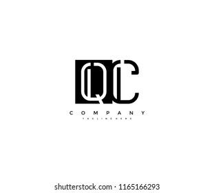 Vector Letter QC Combine Linked Modern Monogram Logo