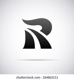 Vector letter R logo icon design template