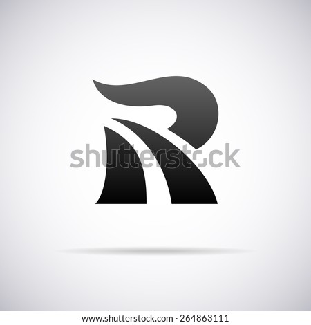 vector letter r logo icon design template