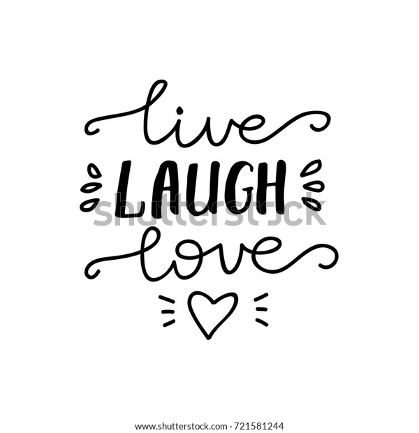 "Vector Lettering ""Live, Laugh, Love""."