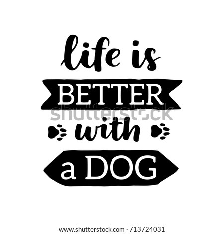 vector lettering saying about dog adoption stock vector royalty