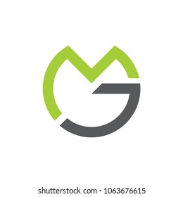 vector of letters mg circle logo