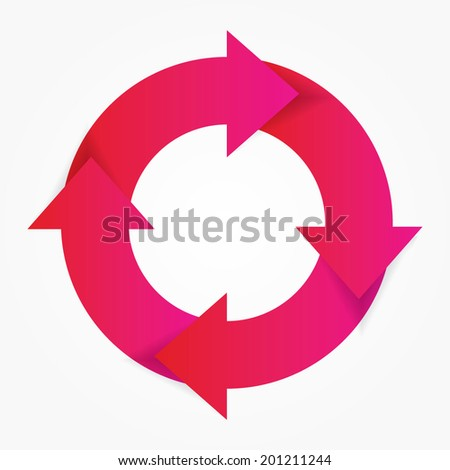 Vector Life Cycle Diagram Stock Vector Royalty Free 201211244
