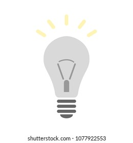 vector light bulb icon - bright idea concept, energy power symbol