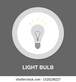 vector light bulb icon - bright idea concept, energy power symbol