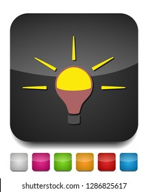 vector light bulb icon - idea concept, energy power symbol