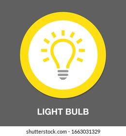 vector light bulb icon - idea concept, energy power symbol