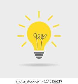 Vector light bulb icon. Vector illustration. Flat design for business financial marketing advertisement advertisement web concept cartoon illustration