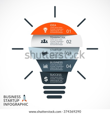 Vector Light Bulb Infographic Template Circle Stock Vector Royalty