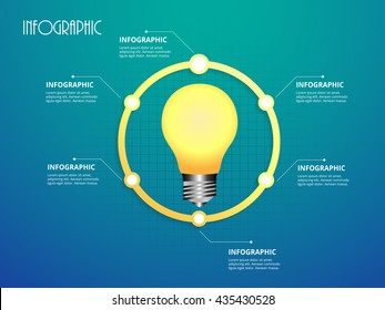 Vector light bulb whit circle infographic. Vector eps10.