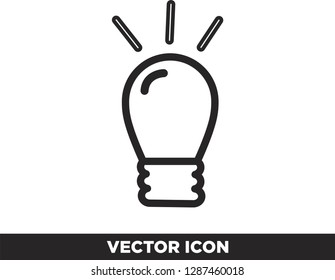 Vector light combustion, idea icon