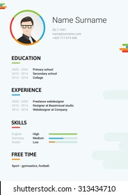Vector light cv, resume, curriculum viate template. Modern and creative CV, it's good for you!