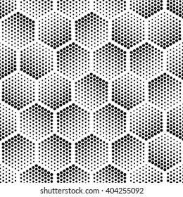 Vector light gray geometric halftone seamless pattern. Retro pointillism vector seamless background. Vector old school design. Vector bright dotted texture. Vector continuous abstract retro pattern