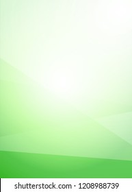 Vector Light Green Abstract low poly Vertical Background. Nice illustration for Eco Banners and Nature Presentation, Brochure Covers.