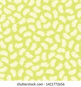 Vector light green seamless pattern with tropical leaves. Suitable for textile, gift wrap and wallpaper.
