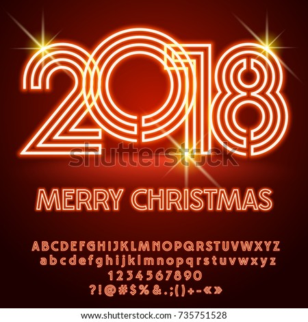 Vector Light Merry Christmas 2018 Greeting Stock Vector Royalty