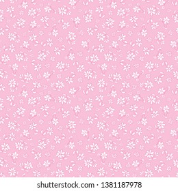 Vector light pink hand drawn flowers repeat pattern. Suitable for gift wrap, textile and wallpaper. Suitable for gift wrap, textile and wallpaper. Surface pattern design.