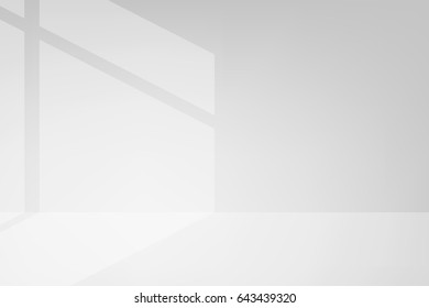 vector light and shadow gray background, white interior abstract background. use mash tool, soft light and mask