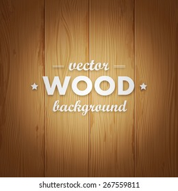 Vector light wood texture with title. Background