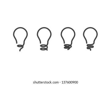 Vector Lightbulb Icon Set