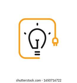 Vector lightbulb idea line icon.