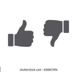 Vector. Like / Dislike, unlike. Thumbs up / Thumbs down. Icon set. Thumbs-up / Thumbs-down.