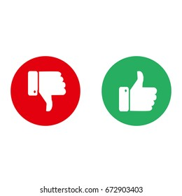 Vector. Like / Dislike, unlike. Thumbs up / Thumbs down. Icon set.