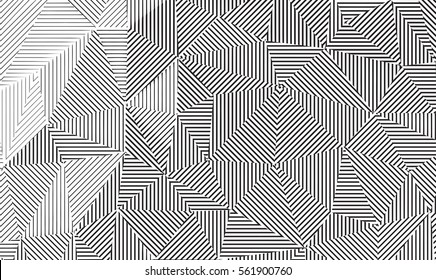 Vector line art. Geometrical linear background texture.