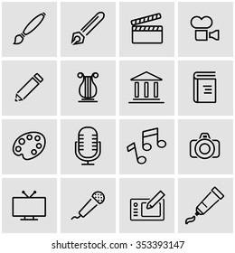 Vector line art icon set.