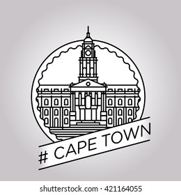 vector line cape town badge