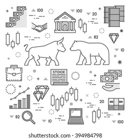 Vector line concept of stock market.