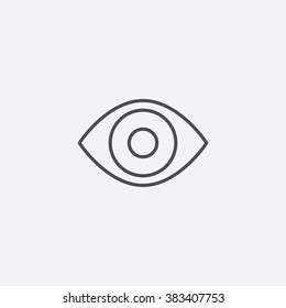 Vector line eye Icon