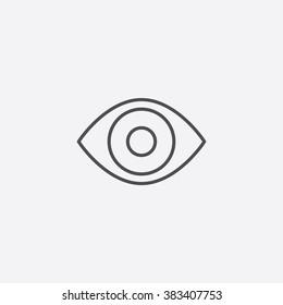 Vector line eye Icon