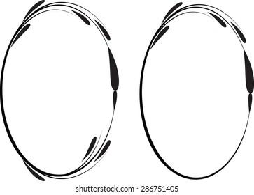 vector line frame
