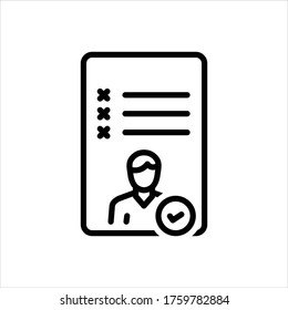 Vector line icon for attend