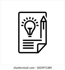 Vector line icon for brief