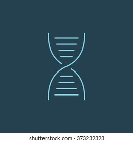 Vector Line Icon Of DNA. Eps-10.