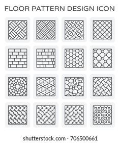 Vector line icon of floor pattern design.
