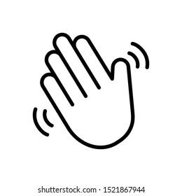 Vector line icon for hello wave