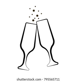 Wine Toast Stock Illustrations, Images & Vectors ...