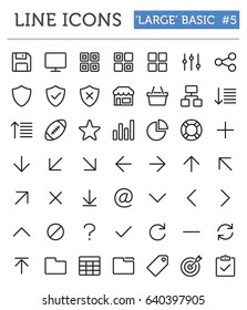 """Vector line icons for professional developers - """"Large"""" Basic Pack 5"""