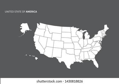 Imagenes Fotos De Stock Y Vectores Sobre Estados Unidos Mapa
