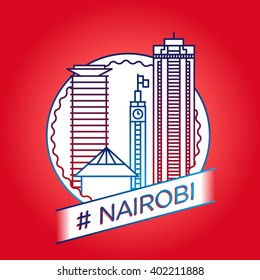 vector line nairobi badge