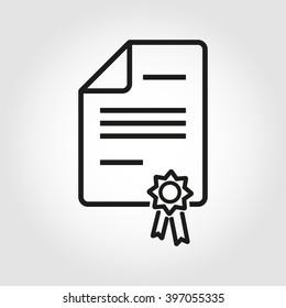 Vector line patent icon.
