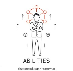 Vector Linear Concept of Human Abilities, Development of Personal Qualities to Enhance Business Skills