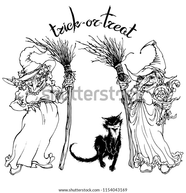 Two Witches Stock Illustrations – 81 Two Witches Stock Illustrations,  Vectors & Clipart - Dreamstime