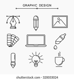 Vector linear graphic design icons