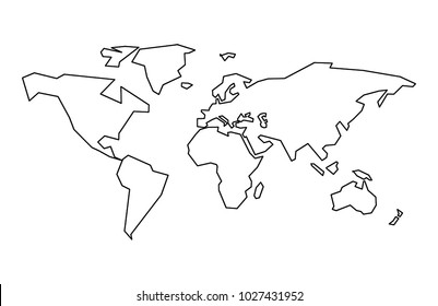 Vector Linear World Map