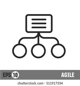 Vector lines icon agile